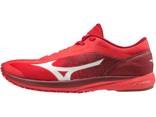 Mizuno Wave Duel Zapatillas Running Hombre, high risk red/white/biking red
